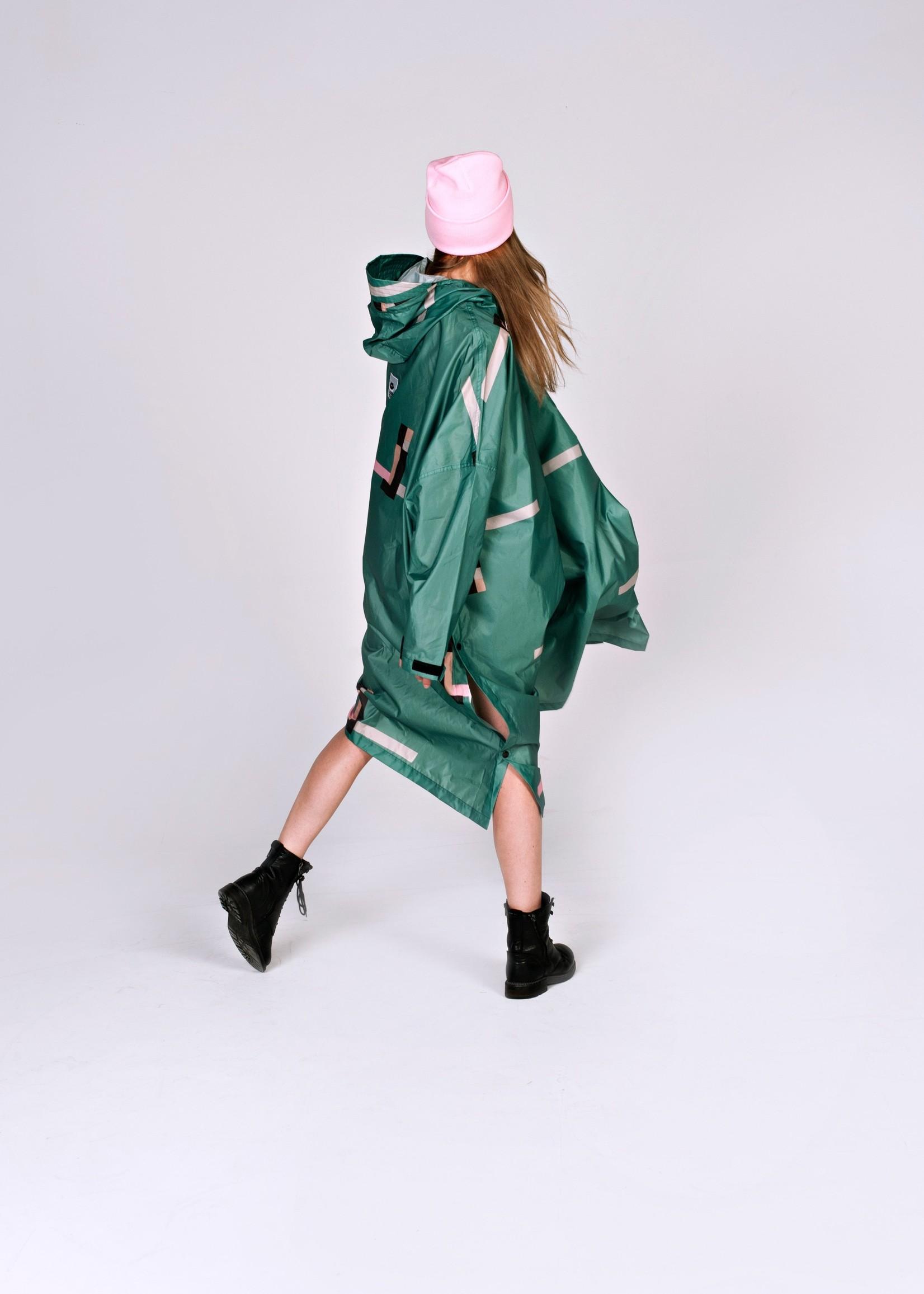 Rainkiss Stray Pixel - Rain Poncho
