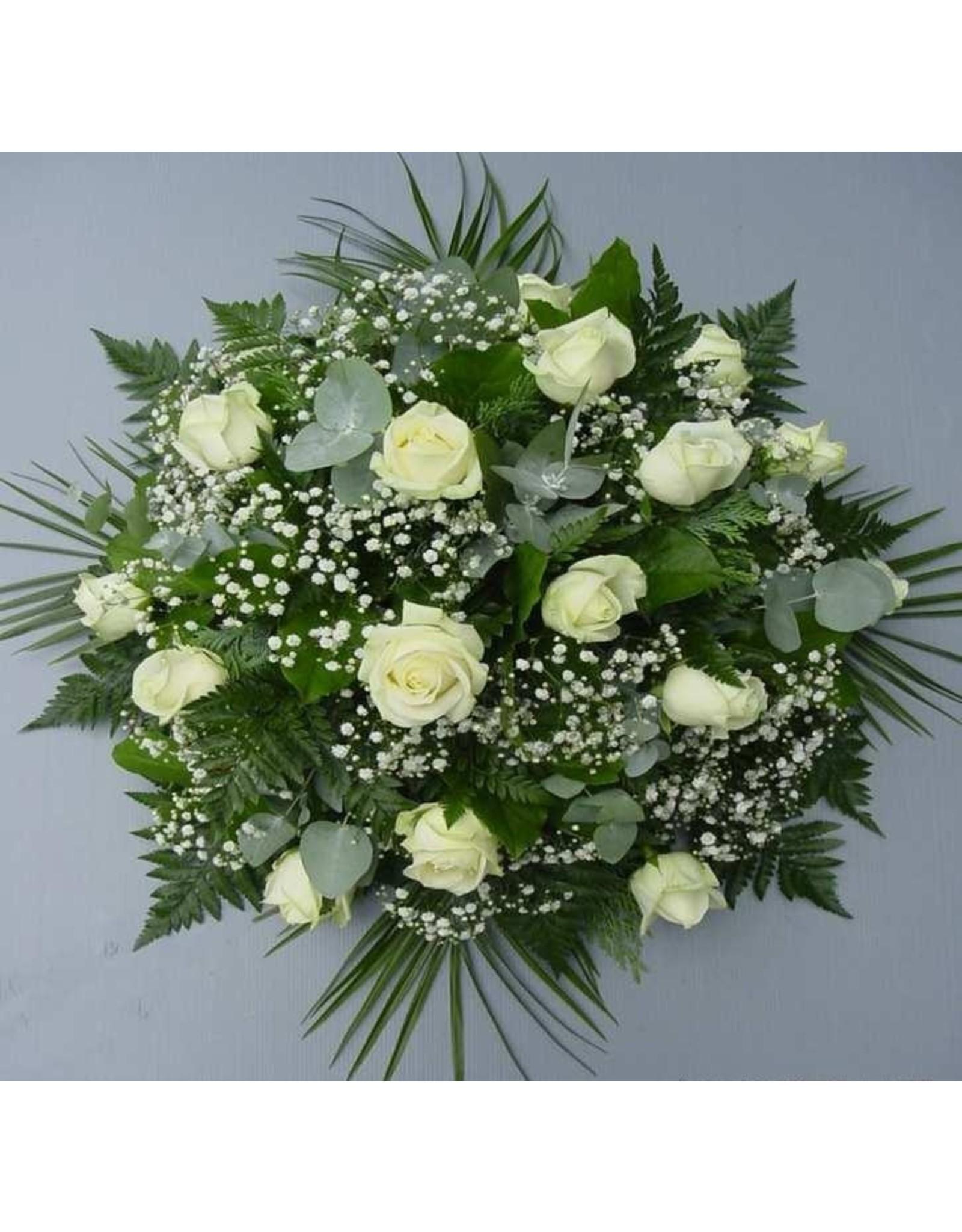 rond bloemstuk met groene vulling