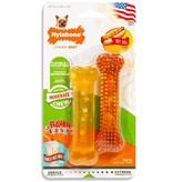 Nylabone Dura chew   twin pack Vanilla & Hot Dog