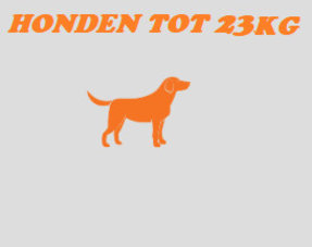 Honden tot 23kg