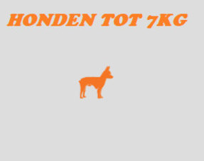 Honden tot 7kg