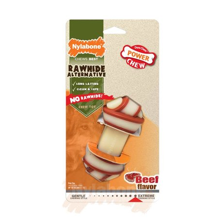 Nylabone Power Chew Rawhide Alternatief  knoop maat S