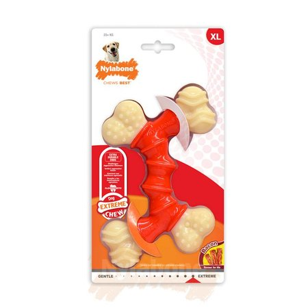 Nylabone Power Chew Double Bone Bacon Maat XL