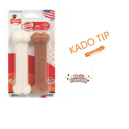 Nylabone Power chew duo bacon en kip kluif maat M