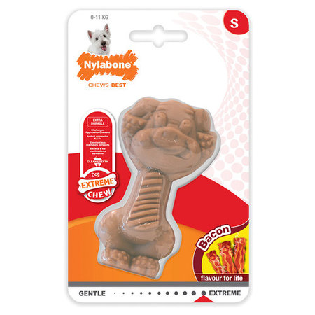 Nylabone Power Chew Pig   Bacon  maat S