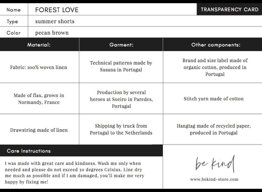 Forest Love - Linnen Korte Broek