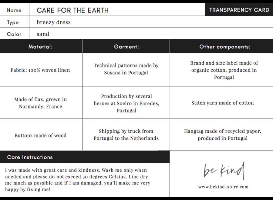 Care for the Earth - Linnen Jurk