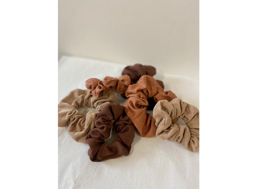 Zero-waste Choco Rib  Scrunchie Small