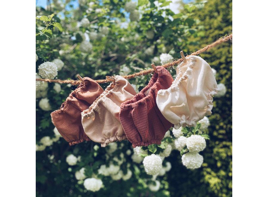 Baby Bloomer Pecan Linen