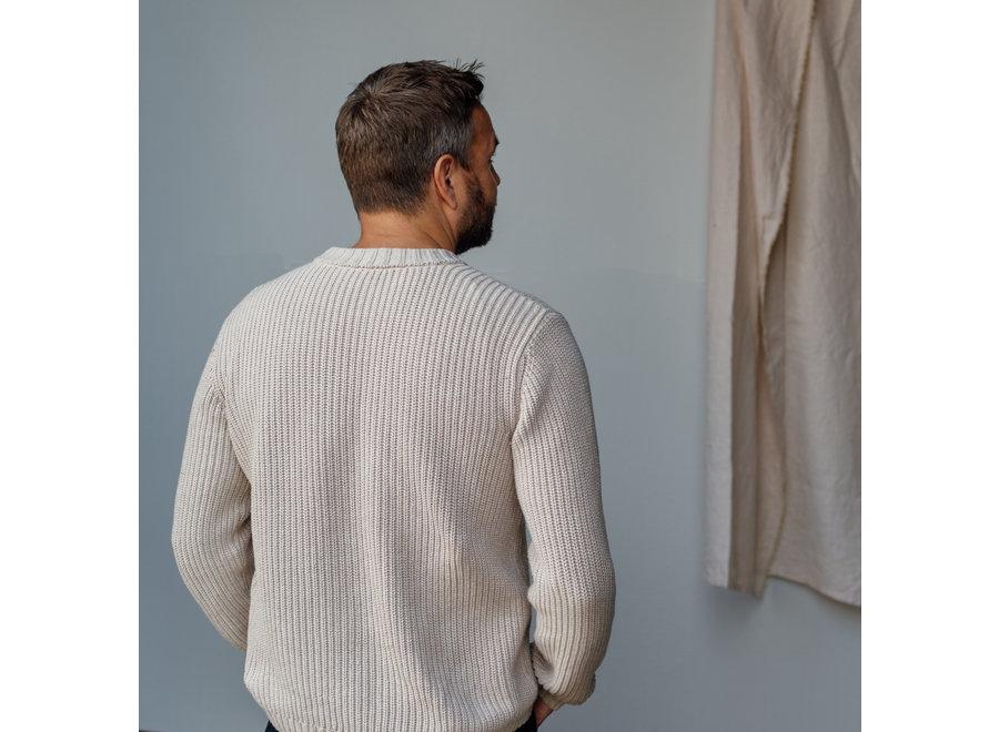 Skylar Sweater - Organic Cotton   Latte (pre-order)