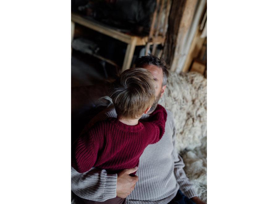 Skylar Sweater Kids - Organic Cotton | Merlot (pre-order)