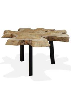 Couchtisch Echtholz 80 x 70 x 38 cm