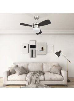 Deckenventilator mit Lampe und Fernbedienung 76 cm Dunkelbraun
