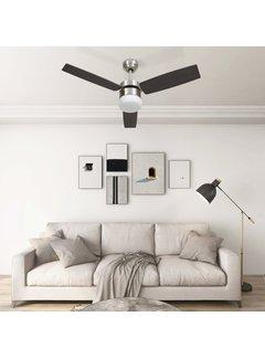 Deckenventilator mit Lampe und Fernbedienung 108 cm Dunkelbraun