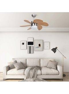 Deckenventilator mit Lampe 76 cm Hellbraun