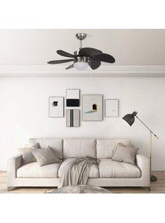 Deckenventilator mit Lampe 76 cm Dunkelbraun