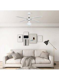 Deckenventilator mit Lampe 106 cm Weiß