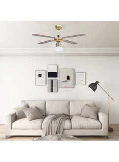 Deckenventilator mit Lampe 106 cm Braun