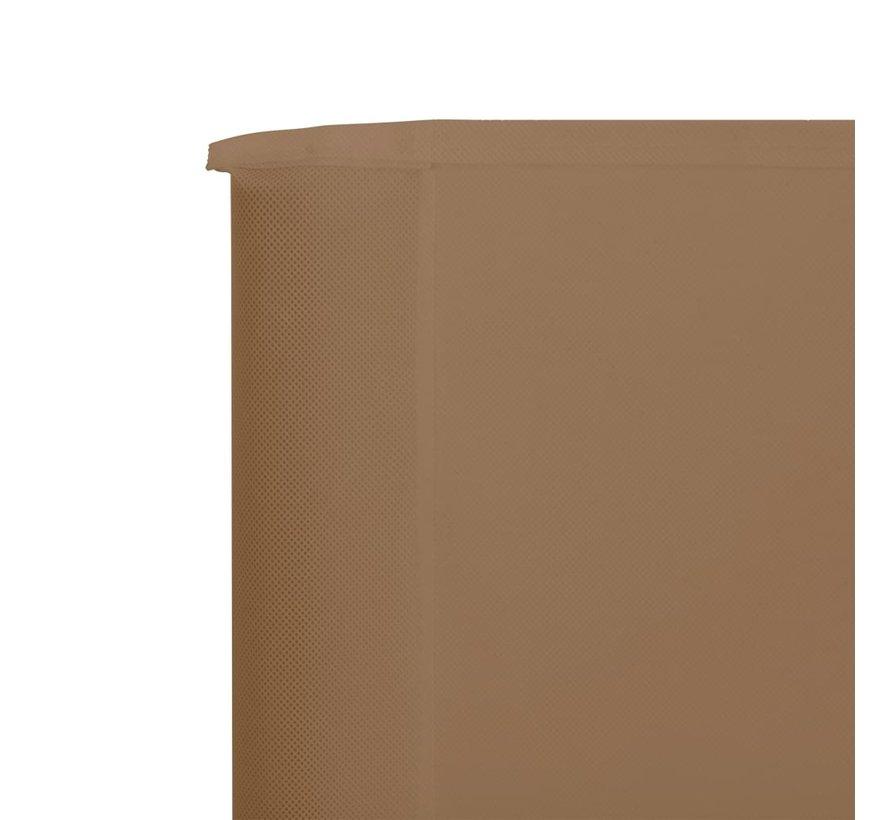 3-teiliges Windschutzgewebe 400 x 160 cm Taupe