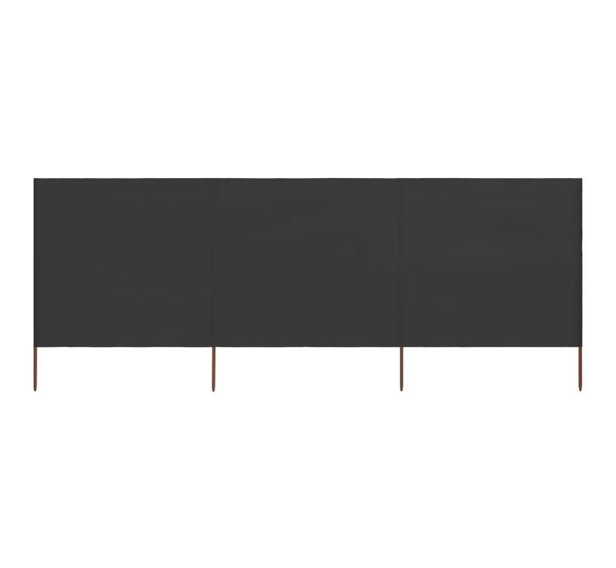 3-teiliges Windschutzgewebe 400 x 160 cm Anthrazit