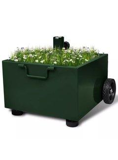 Bepflanzbarer Sonnenschirmständer Blumentopf Grün