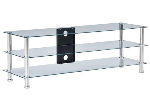 TV-Tisch Transparent 120 x 40 x 40 cm Gehärtetes Glas