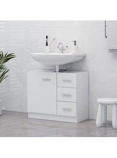 Waschbeckenunterschrank Weiß 63x30x54 cm Spanplatte
