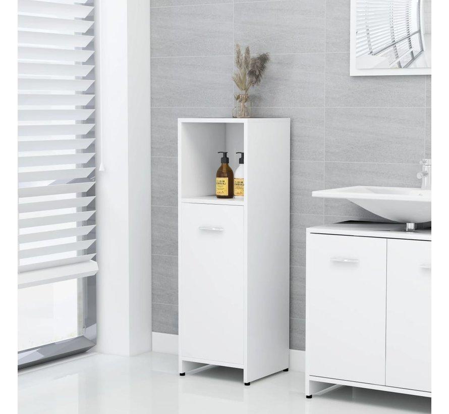 4-tlg. Badmöbel-Set Weiß Spanplatte