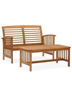 2-tlg. Garten-Lounge-Set Massivholz Akazie