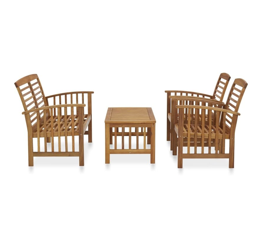 4-tlg. Garten-Lounge-Set Massivholz Akazie