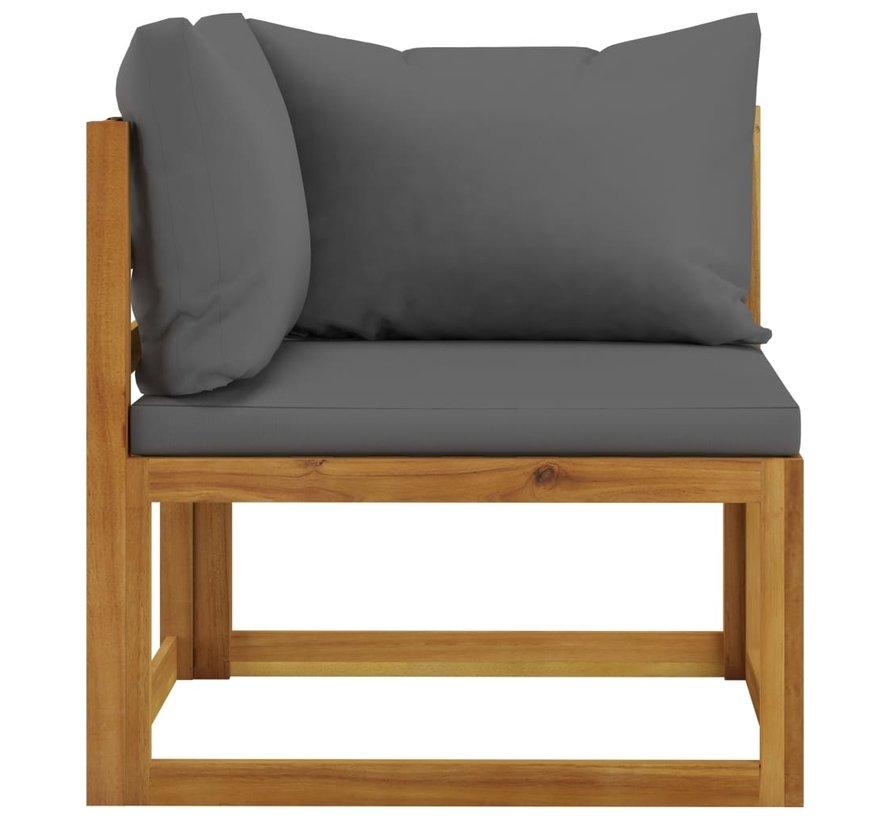 12-tlg. Garten-Lounge-Set mit Auflagen Massivholz Akazie