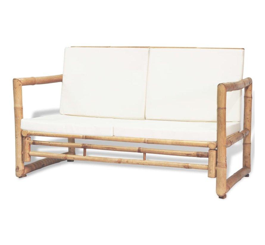 2-Sitzer Gartensofa mit Polstern Bambus