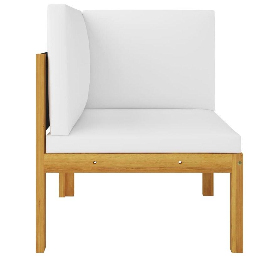 2-Sitzer-Gartenbank mit Kissen Massivholz Akazie