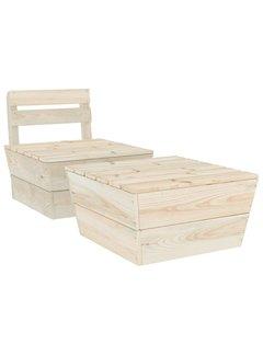 2-tlg. Garten-Lounge-Set Imprägniertes Fichtenholz