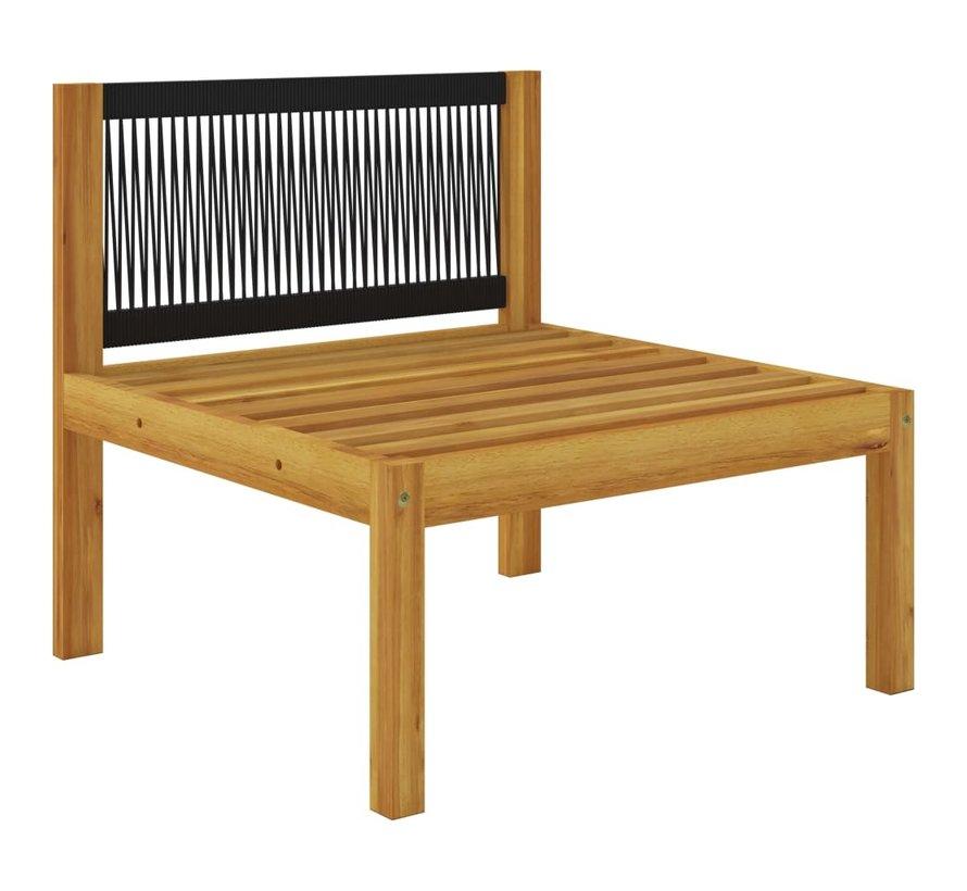 2-tlg. Garten-Lounge-Set mit Auflagen Massivholz Akazie