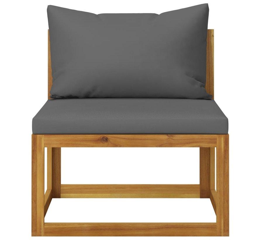 2-tlg. Garten-Sofagarnitur mit Auflage Massivholz Akazie