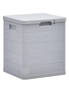 Garten-Aufbewahrungsbox 90 L Hellgrau