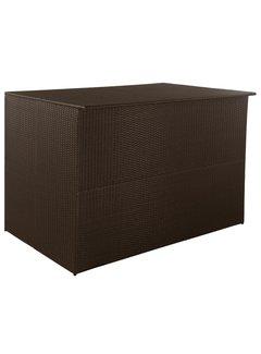 Gartenbox Braun 150x100x100 cm Poly Rattan