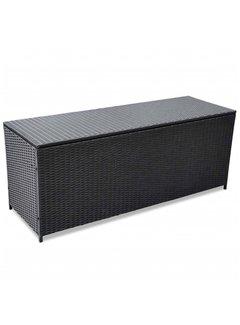 Garden-Auflagenbox Schwarz 150x50x60 cm Poly Rattan