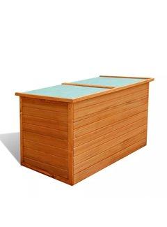 Garten-Aufbewahrungsbox 126x72x72 cm Holz