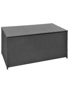 Garten-Aufbewahrungsbox Schwarz 120x50x60 cm Poly Rattan
