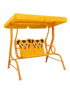 Kinder-Hollywoodschaukel Gelb 115 x 75 x 110 cm Stoff