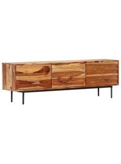 TV-Schrank 140 x 30 x 45 cm Massivholz Palisander