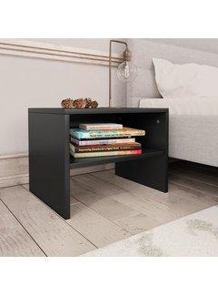 Nachttisch Schwarz 40 x 30 x 30 cm Spanplatte