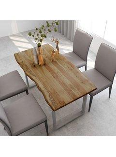 Esstisch 140×70×76 cm Akazie-Massivholz