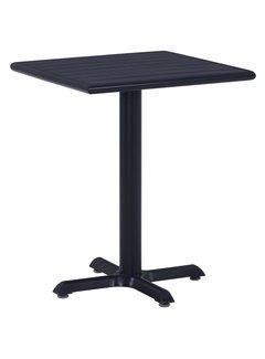 Gartentisch Schwarz 60x60x75 cm