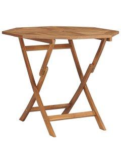 Klappbarer Gartentisch 85x85x76 cm Teak Massivholz