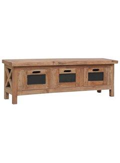 TV-Schrank mit 3 Schubladen 120×30×40 cm Massivholz Mahagoni