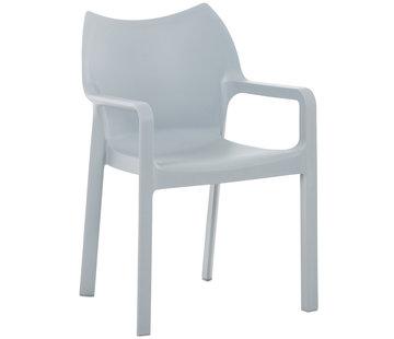 Stuhl DIVA Kunststoff hellgrau
