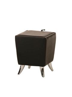 Sitzhocker Roxy Kunstleder schwarz